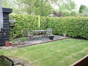 Private garden and patio area for you to relax in
