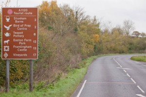 The road into Stonham Aspal - and some nearby attractions
