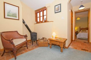 Relax by the cosy woodburner - a romantic addition to the central heating !