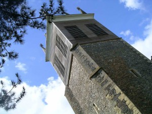 Stonham Aspal's unusual church tower.