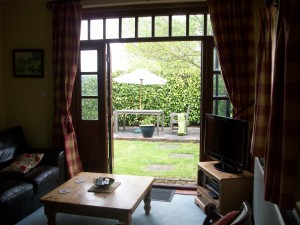 Living Room - with French doors to the private garden and patio area